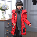 2016 Girl Winter Children s Down Jacket Fashion Slim Long Hooded thick Warm Down Parkas