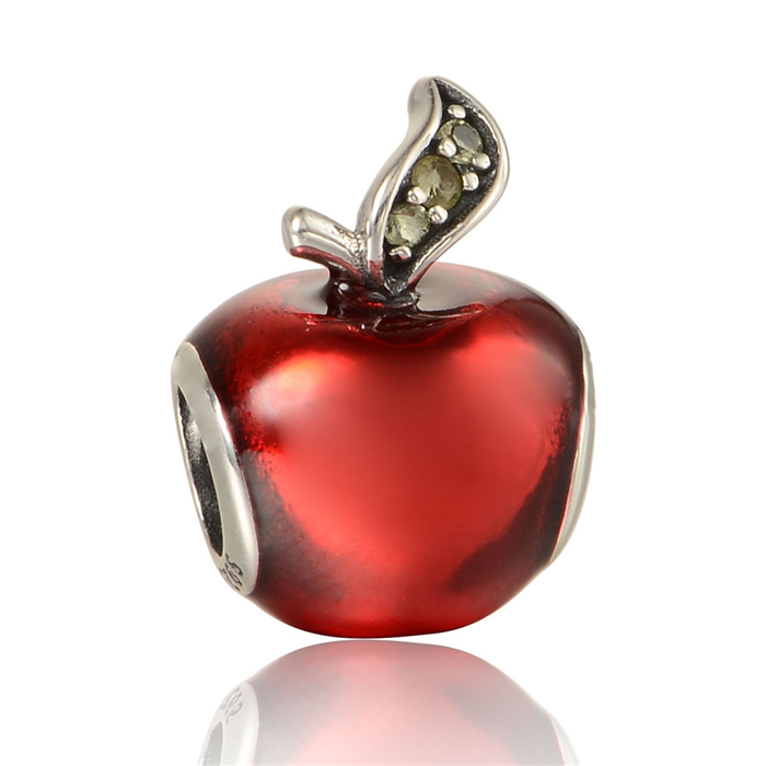 Authentic 925 Sterling Silver Disny Snow Whites Apple with Red Enamel Charms Fit Original Pandora Bracelet For Sale UK<br><br>Aliexpress
