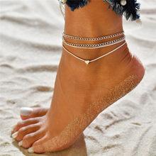Modyle 3 ピース/セットアンクレット女性の足のアクセサリー夏のビーチ裸足サンダル足首足に女性の足首(China)