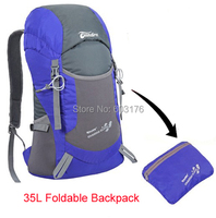 Ultra Light  Foldable 35L Outdoor Backpack Waterproof Climbing Mountaineering Hiking Camping Shoulder Bag