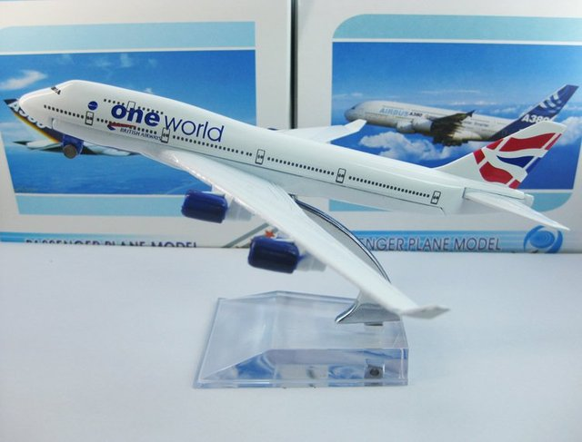 Free Shipping,Airlines plane model,   British airways B747-400, 16cm, metal airplane models,airplane model