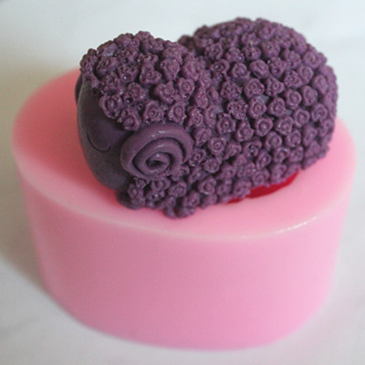 Soap handmade soap silica gel mould candle soap silicone all rose sheep(China (Mainland))