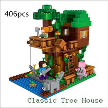 Buy LEPIN 406pcs hot Toy Children Gift 21125 World Jungle Tree House Minecraft anime ation Figures Building Blocks Bricks for $22.98 in AliExpress store
