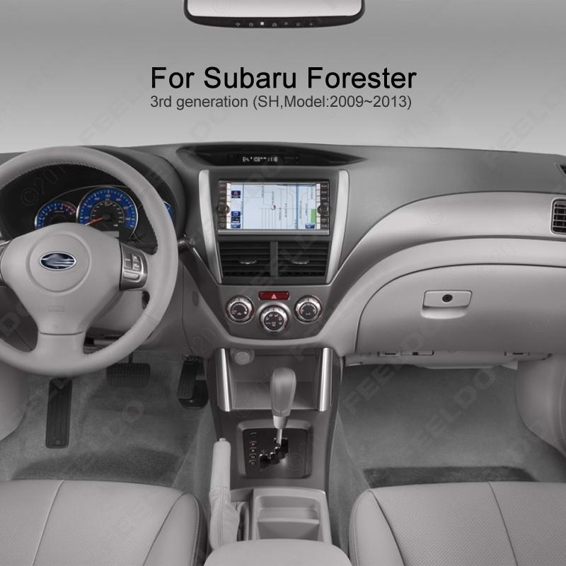 Car 2DIN Refitting Radio Stereo DVD Frame Fascia Dash Panel Installation Kits Conversion For Subaru Forester(09~13) #FD-2073(China (Mainland))
