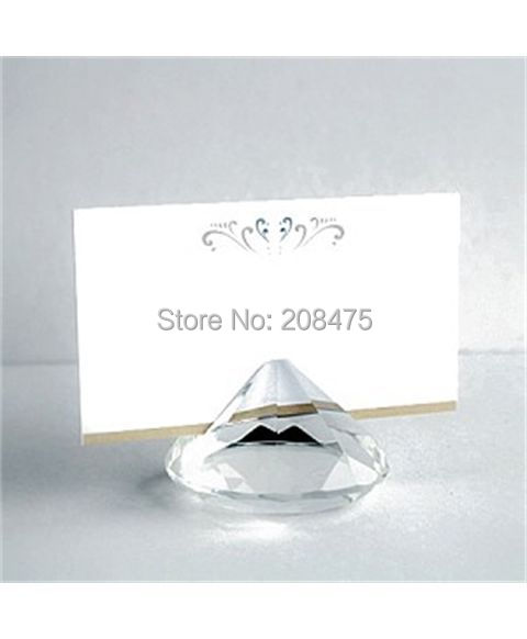 Free Shipping,12PCS/LOT,Wedding Gifts,Crystal name Card Holder Favors for Table Decoration(China (Mainland))