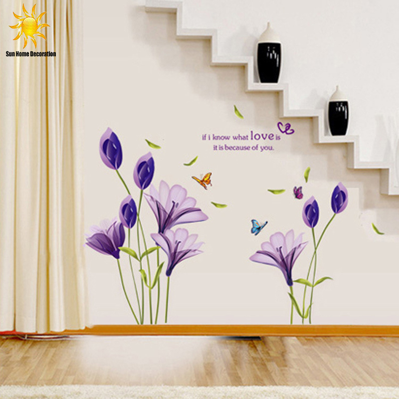flower fairy wall stickers picture more detailed picture pics photos wall flower stickers