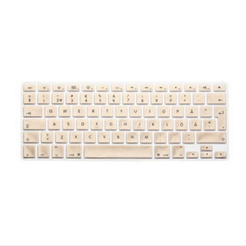 Metallic Gold Swedish Silicone EU UK font b Keyboard b font font b Cover b font