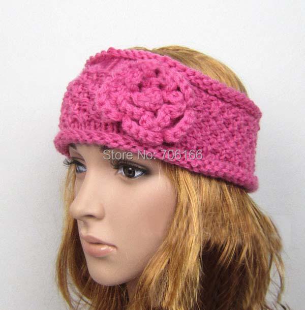 Crocheting Over A Hair Band : crochet hair band , Knitted Headband, Ear Warmer neck Warmer head ...