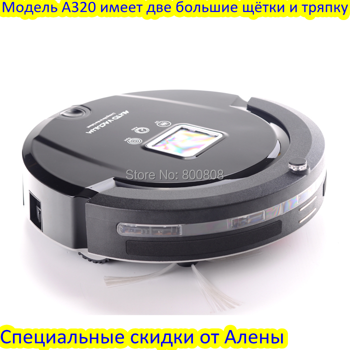 (Free to Russia ) 4 In 1 Multifunctional Robot Vacuum Cleaner, LCD Screen,Touch Button,Virtual Wall,Self Charging(China (Mainland))