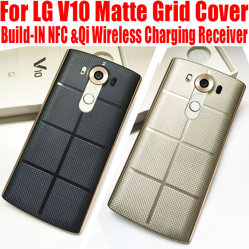 Fashion Plastic Matte Grid Case For LG V10 Replacement Housing Back Cover For LG V10 with NFC Qi Wireless Charging Receiver LGV2(China (Mainland))