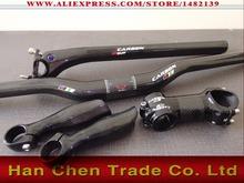 carbon handlebar set mtb bicycle flat / riser handlebar+seatpost+stem+bar end