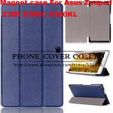 Magnetic smart pu leather cover case For Asus Zenpad 8.0 Z380 Z380C Z380KL 8 inch inch tablet case + screen protectors +stylus
