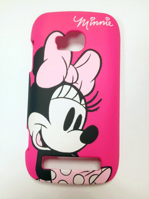 New plastic cartoon Minnie hard back case cover fit  for Nokia Lumia 710 N710 protector hard shell