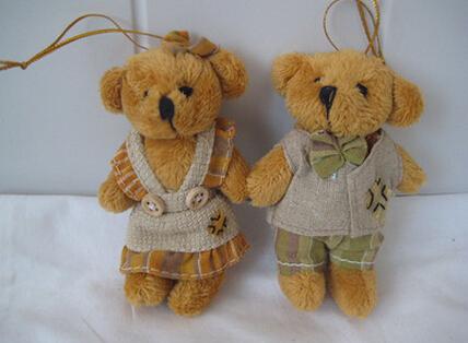 Teddy couples bear plush toys birthday gift The wedding Christmas gift children toys(China (Mainland))