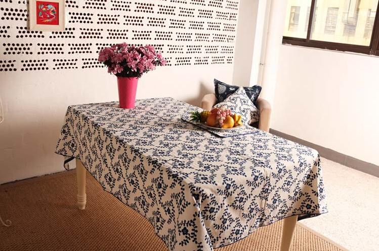 tablecloth nappe de table manteles para mesa leaves floral pattern pastoral modern fashion style. Black Bedroom Furniture Sets. Home Design Ideas