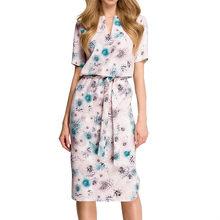 Venta caliente de 2019 Vestidos de fiesta Midi de mujer con estampado geométrico verano Boho playa vestido suelto manga murciélago Vestidos talla grande(China)