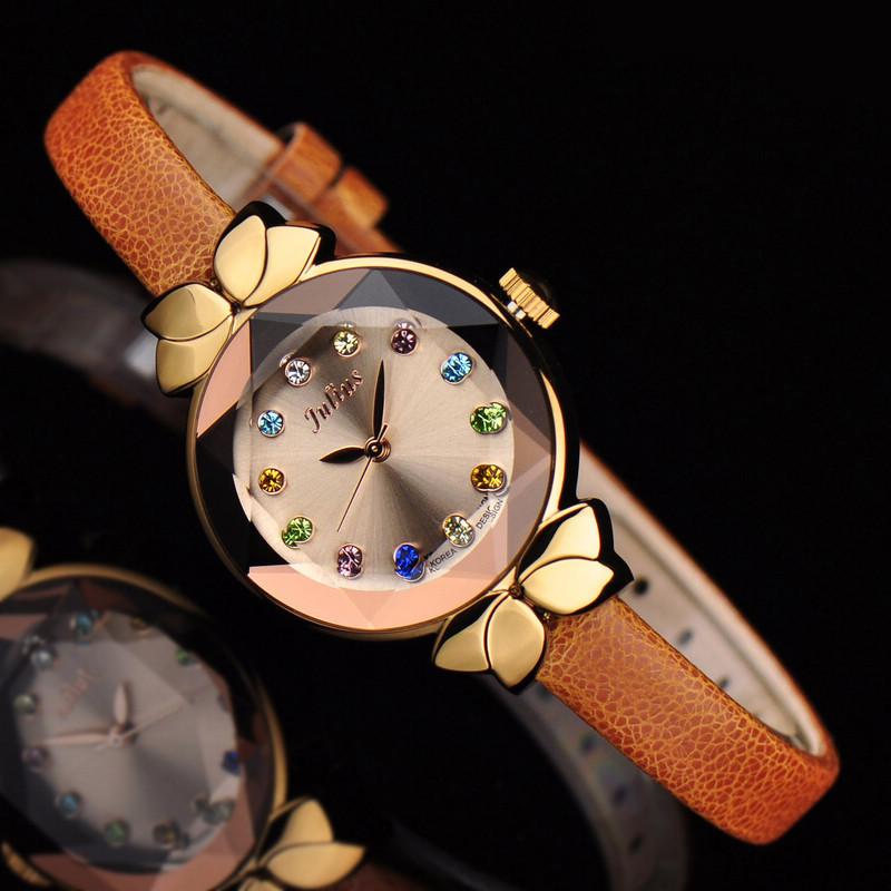 Гаджет  Ladies Wrist Watch Quartz Hours Best Fashion Dress Korea Bracelet Brand Leather Clock Multicolored JA627 None Часы