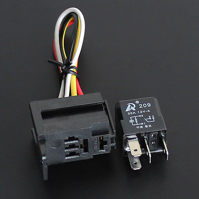 5 set - Car Auto 30A 12V Relay Kit For Electric Fan Fuel Pump Light Horn 4PIN(China (Mainland))