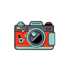 Merah Hijau Warna Kamera Bros 2 Warna Pelangi Kamera Digital Enamel Mantel Topi Ransel Fotografi dan Anak-anak Lencana Hadiah(China)
