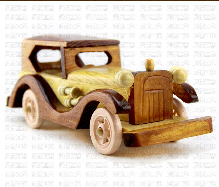 Wooden Car Model Car, Children's Toys Zakka Style Decoration Gift Home Furnishing Scale Models Kids Jugetes(China (Mainland))