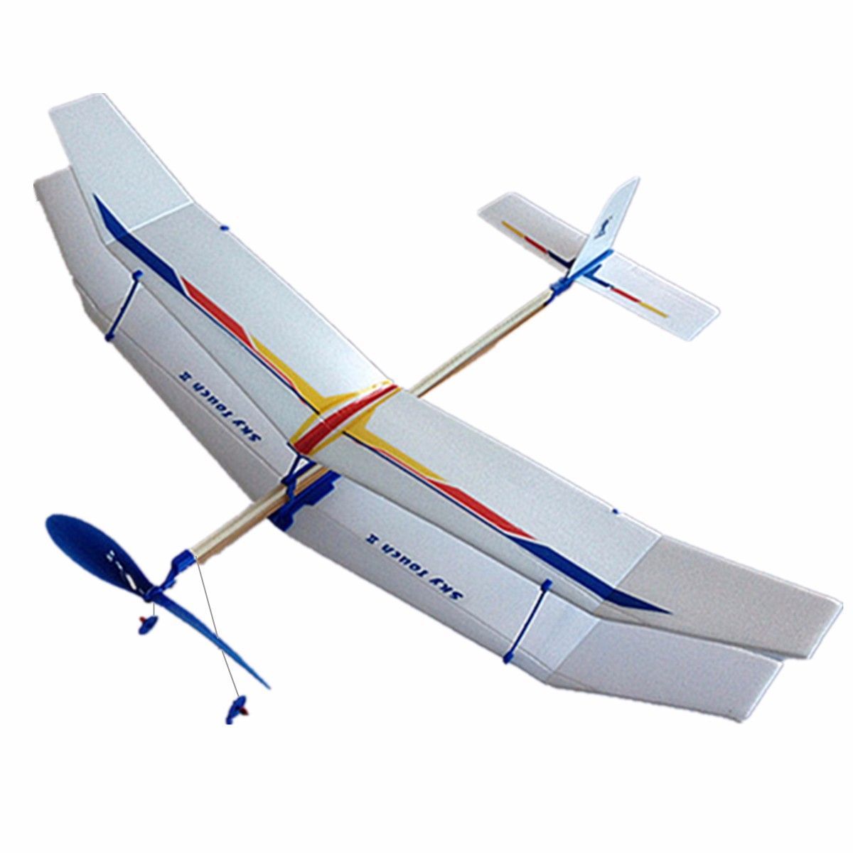 3PCS DIY Glider Rubber Elastic Powered Flying Plane Airplane Fun Model Kids Toy Boy's Science Educational Toys Assembly Plane(China (Mainland))