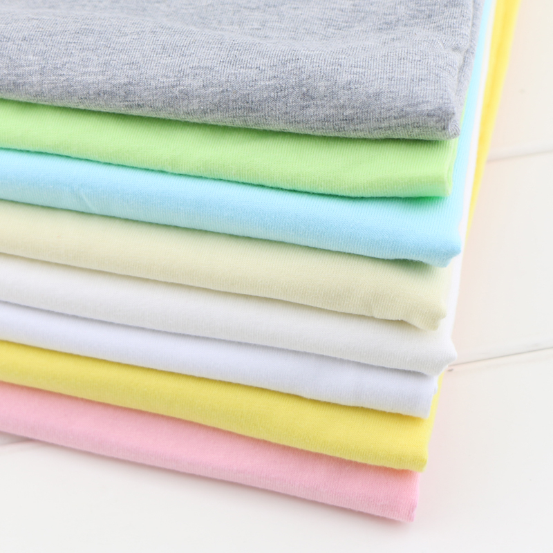 160cm width well elastic cotton jersey knitted fabric by half meter thin baby cotton clothing making fabric(China (Mainland))