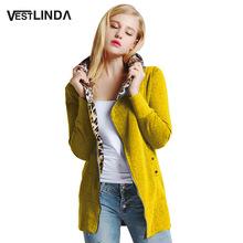 VESTLINDA Long Hooded Coat Trendy Casual Winter Coat Women Long Sleeve Manteau Femme Fashion Out Wear Solid Slim Zipper Coats(China (Mainland))