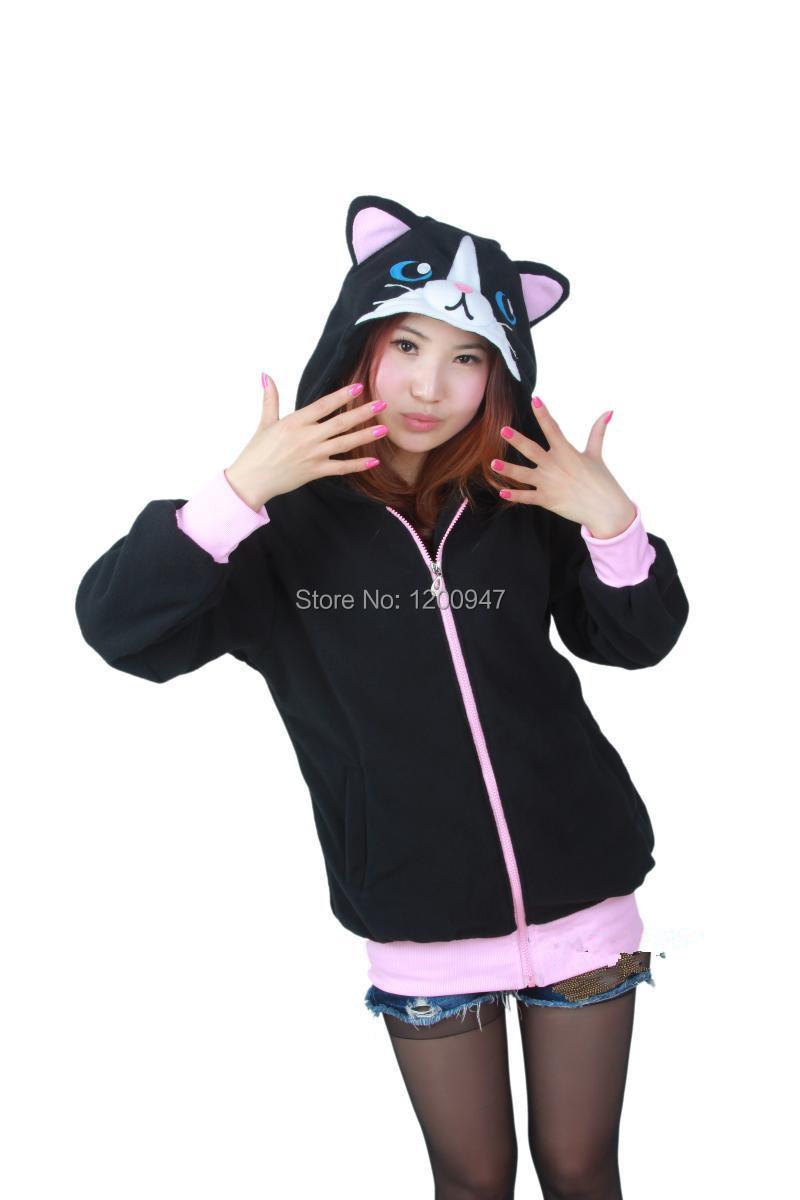 Black hoodie with cat ears