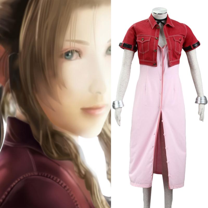 Anime Final Fantasy Cosplay - Final Fantasy VIII Aeris Women's Performance Costume Cosplay Costume Good Quality Aeris Cosplays