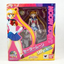 Free Shipping Japanese Anime 6″ Interchangeable Face Sailor Moon Anime Tsukino Usagi Boxed PVC Action Figure Collection Model