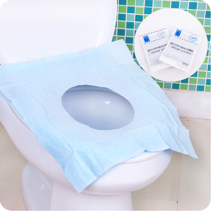 Disposable Toilet Seat Cover Toilet Paper Travel Tour Business Trip Waterproof Bacteria Commode Paper Thicken WC Mat Paper(China (Mainland))