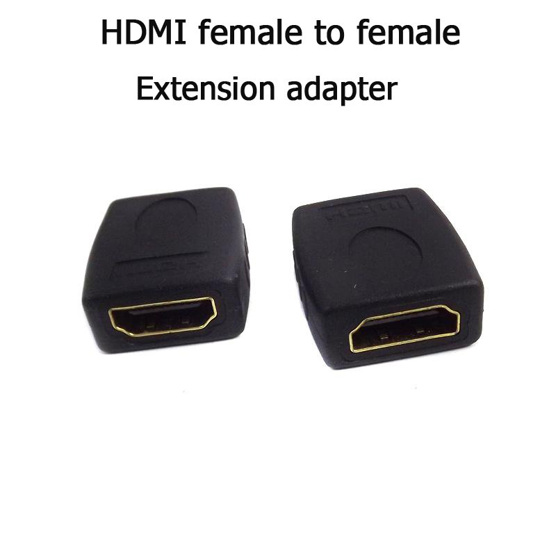 Gold plated HDMI female to HDMI female cable adapter converter extender extension connector for 1080P HDTV(China (Mainland))