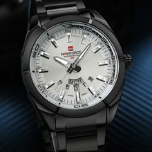 Buy Watches Men NAVIFORCE Brand Full Steel Army Military Watches Men's Quartz Hour Clock Watch Sports Wrist Watch relogio masculino for $17.50 in AliExpress store