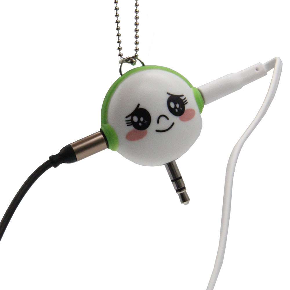 1pcs Cute Gift 3.5mm Dual Audio Earphone Splitter Adapter Headphone Music Share For Mobile Phone/Media Player Earphones Adapter