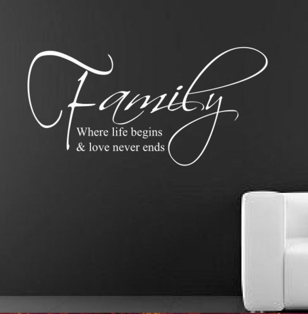 wall decal family art bedroom decor family wall decal love wall sticker quotes letters for decoration sofa room decor adhesive art in wall stickers from home amp garden on aliexpresscom
