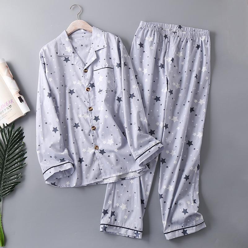 Для мужчин тканая пижамы из чистого хлопка мужские большого размера; пикантные IMG_7891