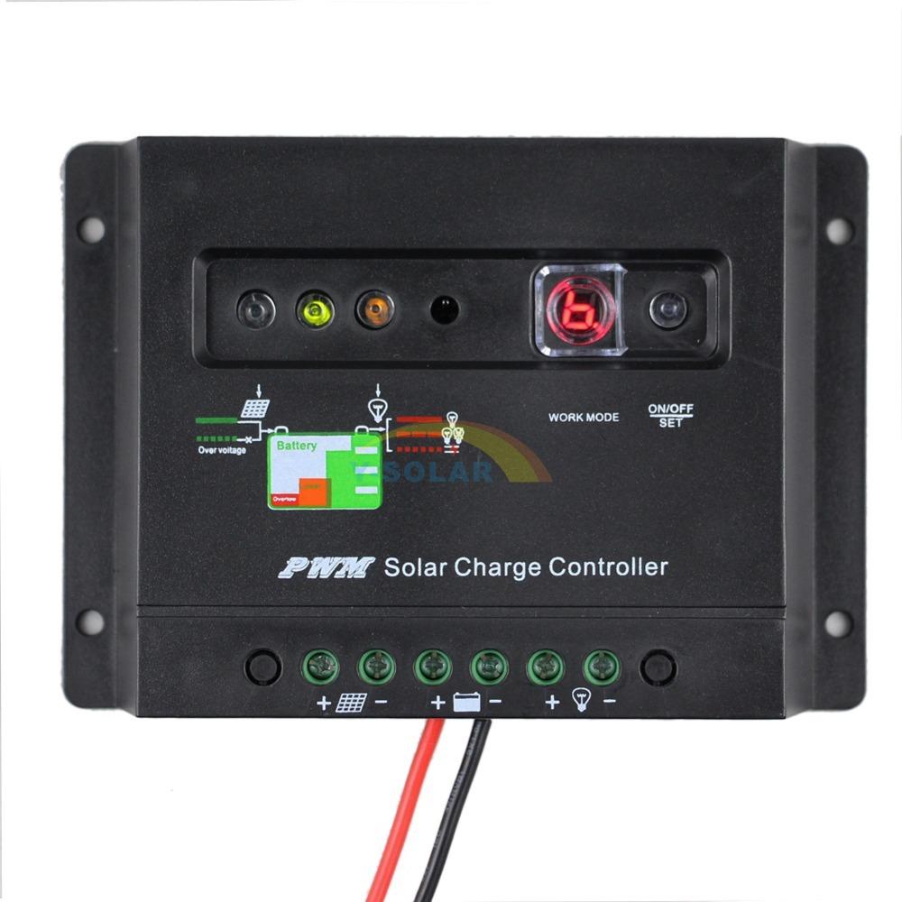 20A Solar Charge Controller 12V Solar Regulator LED Indicator Battery Charging Status 1 Key Setting Timer Lighting control 20I(China (Mainland))