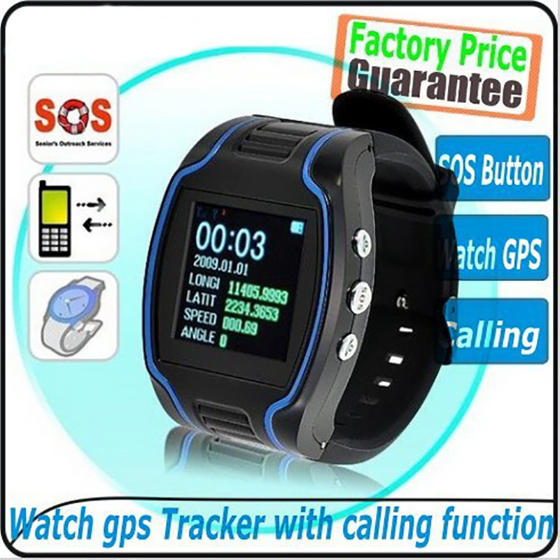 factory selling High quality Watch gps tracker 19N personal gps tracker watch cheap TK109 watch GPS time display FREE shipping(China (Mainland))