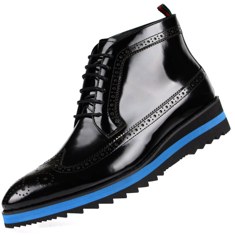 large size 2014 fashion influx black mens casual shoes