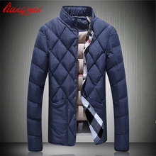 Men Cotton Coats Winter Snow Warm Slim Fit Thick Down Parka Brand Design Casual Fashion Plus Size Jacket Wadded F1801(China (Mainland))