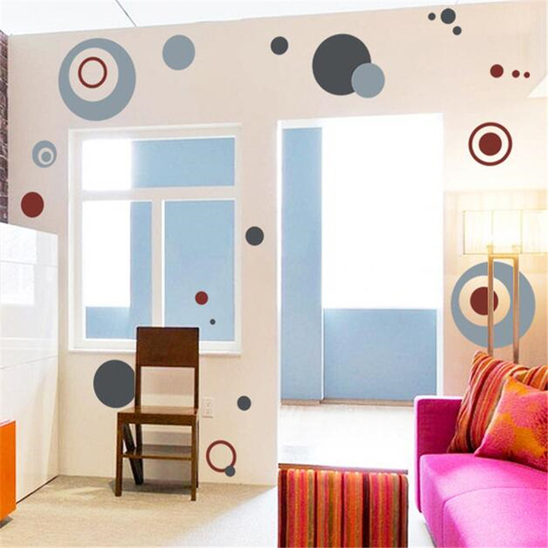 Home decor The circle wall stick sitting room TV wall of bedroom The head of a bed wardrobe wall stickers for free delivery(China (Mainland))