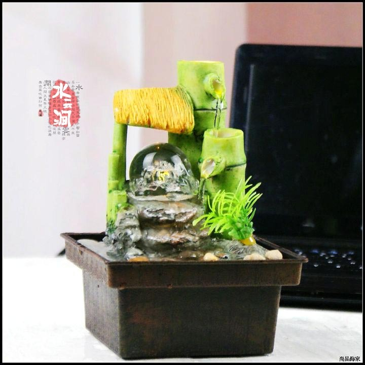 Mini Fountain Water Features Feng Shui Wheel Decoration
