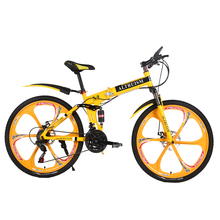 Altruism X9 26 inches bicycles Steel 24 speed Double shock absorption folding mountain bike Double disc bicycle(China (Mainland))