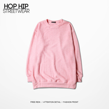 Mens Pink Sweater Hip Hop Streetwear OVERSIZE Knit Shirt O-neck Casual Sweaters Plus Size S-3XL(China (Mainland))