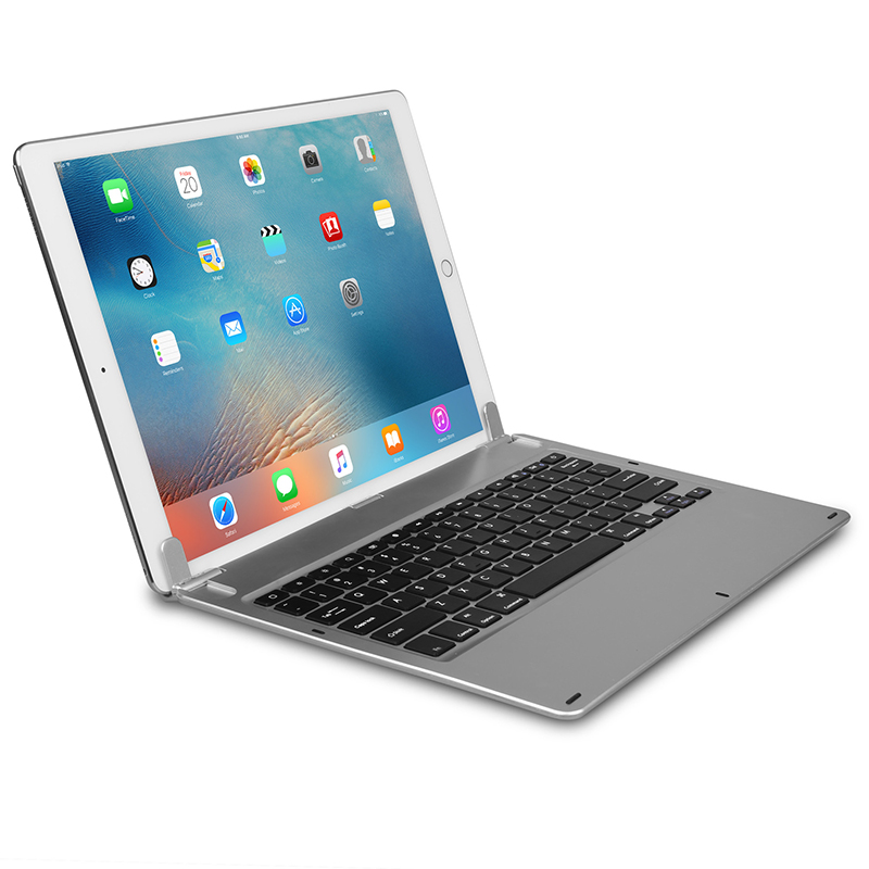 For Ipad Pro Wireless Bluetooth Keyboard Aluminum Keyboard with Shaft Flat Slot Type Keyboard 12.9 inch(China (Mainland))