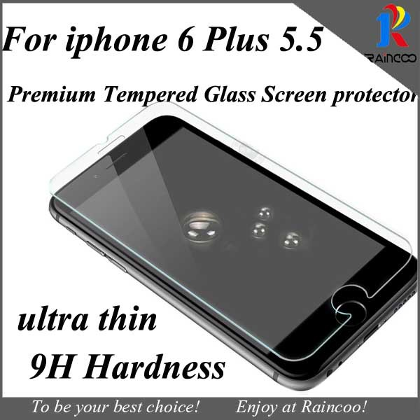 1 iphone 6 plus 5.5 inch ultra thin premium tempered glass screen guard protector film,opp bag packing  -  Raincoo Industrial Company Limited store