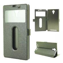 Dual View Windows Flip Cover Case For Lenovo K80 K80M Ultra Thin PU Leather Phone Bag Case For Lenovo K80M K80