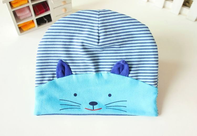Spring and autumn children's knitting cap baby cat pattern COTTON HAT(China (Mainland))