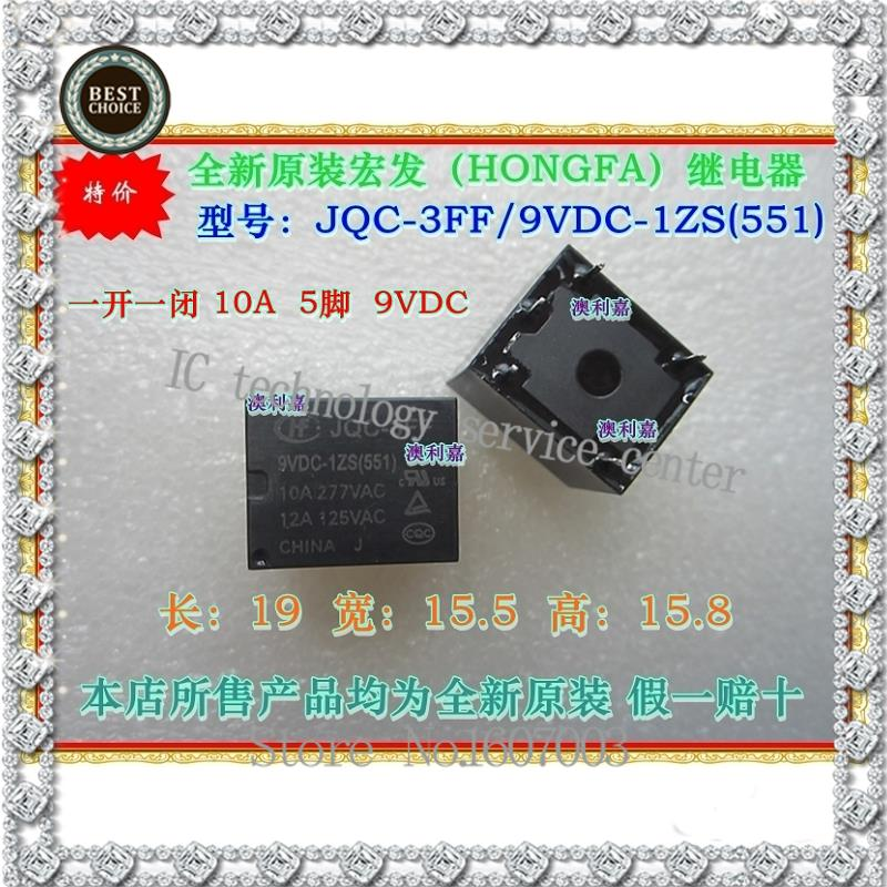 Special offer * new original JQC - 3 ff/zs 10 a 5 feet 9 VDC - 1 photo false a compensate ten Free shipping(China (Mainland))