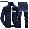 Mountainskin 2017 Men s Suit Casual Hoodies Sets Solid Sweatshirts Spring Autumn Tracksuit Male Sweatpants And